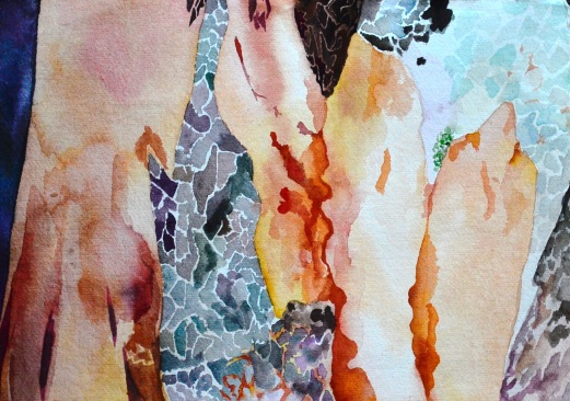 Rain Bark, Watercolour