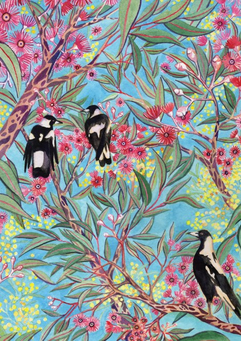 Magpies and Wattle.jpg